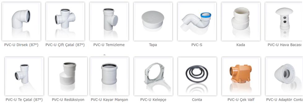PVC Boru Bağlantı Elemanları